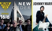 Release Athens 2019: New Order + Johnny Marr + Morcheeba + Fontaines D.C. + Ta toy boy - 16/6/19, Πλατεία Νερού
