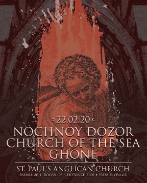Live Review: Nochnoy Dozor/ Church of the Sea/ Ghone @ Αγγλικανική Εκκλησία, 22/2/20